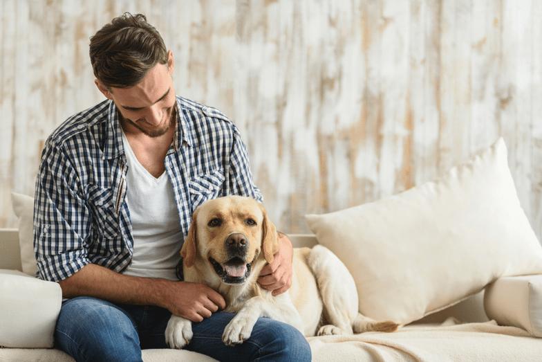 Men with his esa dog